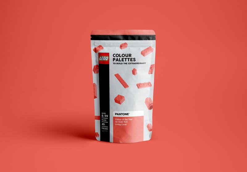 Lego x Pantone - Colour Palette Pouch Packaging
