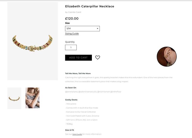 E-Commerce Product Descriptions | So Shady & Camila Carril