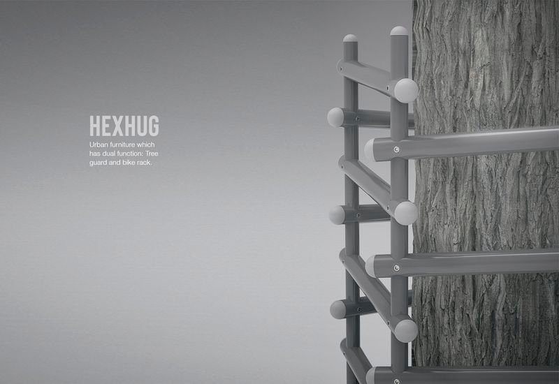 HexHug - Urban furniture with dual function