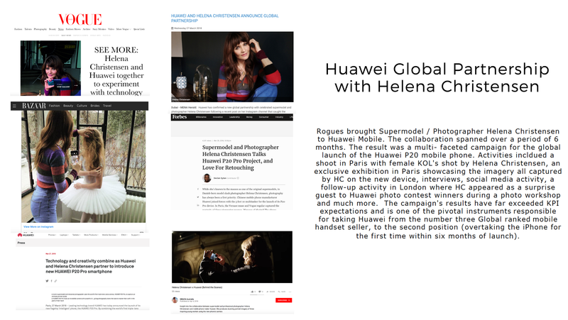Helena Christensen Huawei P20 Global Launch Campaign