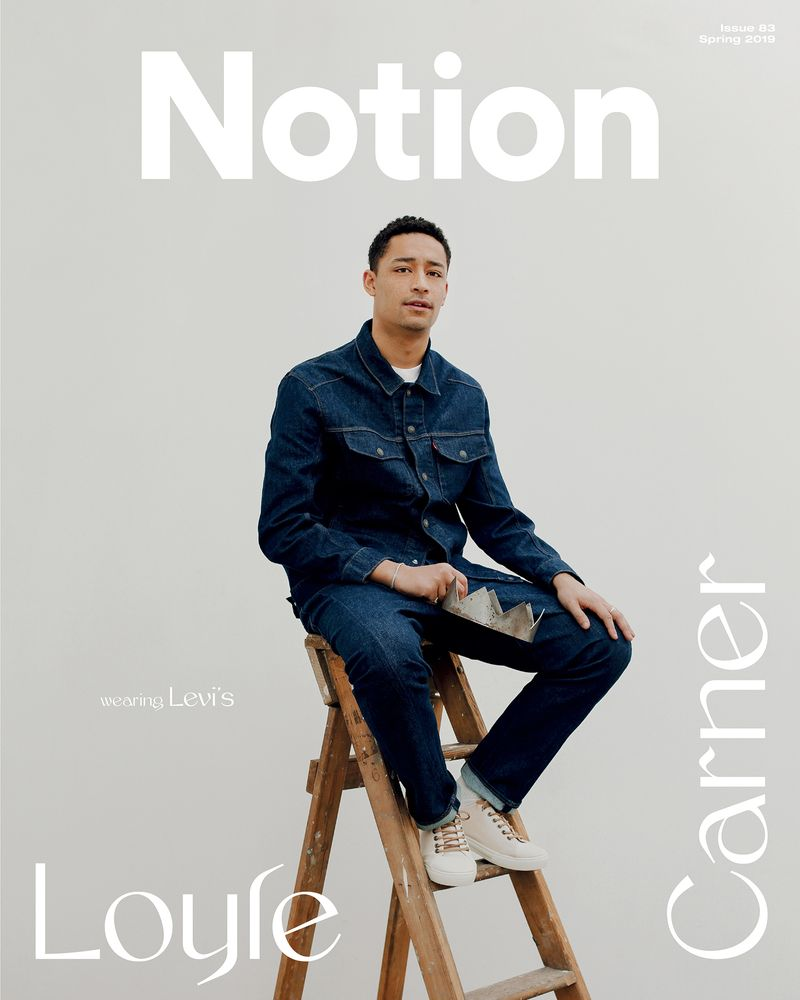 Loyle Carner  cover shoot - Notion Issue 83