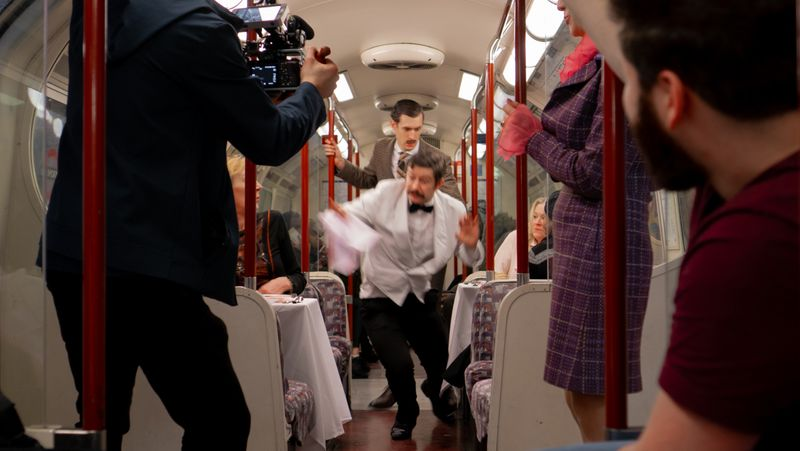Faulty Towers Dining Tube Stunt
