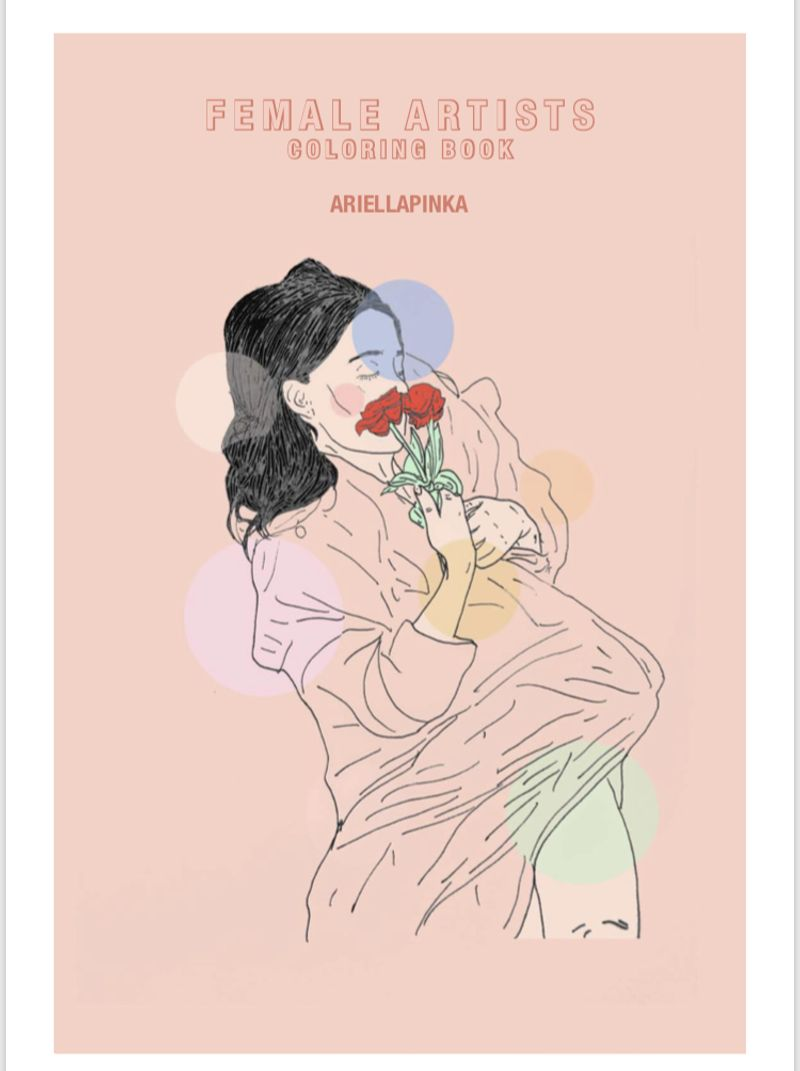 Female Artist Colouring Book