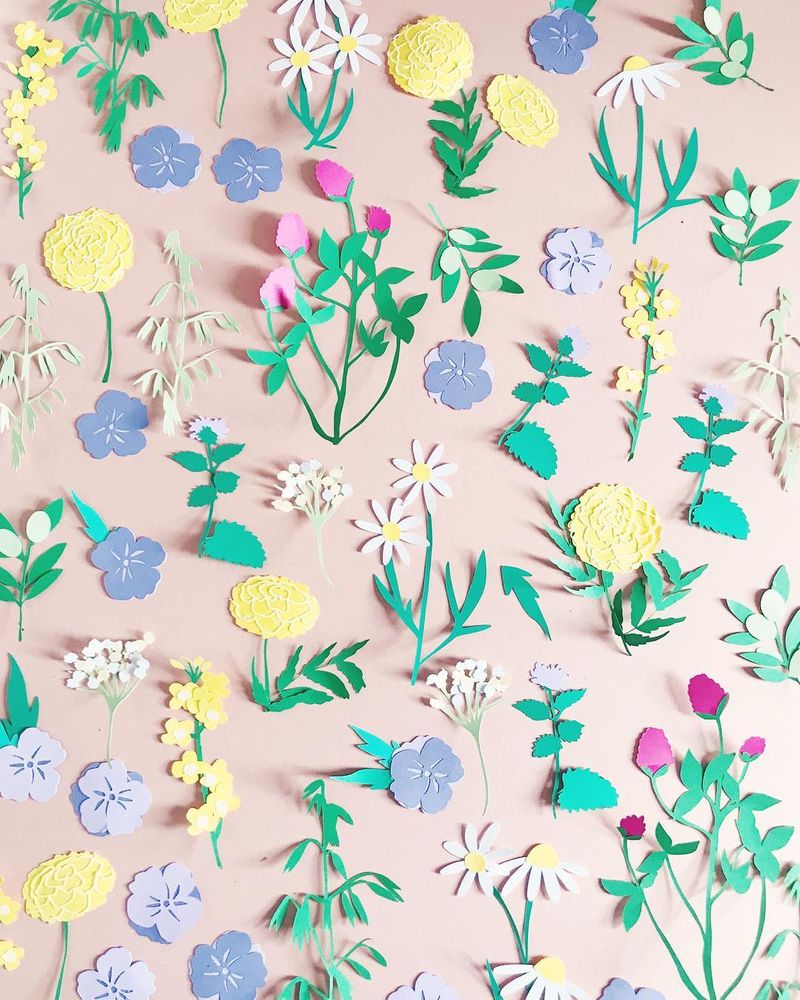 Botanical papercuts for Scouting Magazine