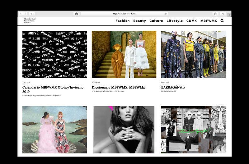 Fashion Week Mexico Website
