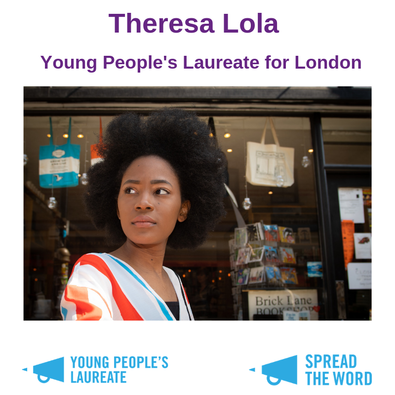 Theresa Lola appointed as Young People's Laureate for London