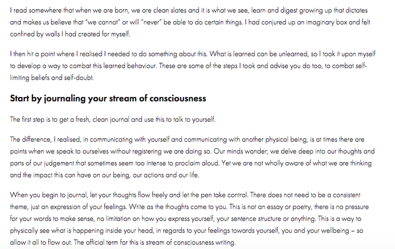 How journaling can help grow your confidence