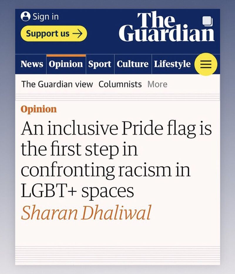 GUARDIAN - An inclusive Pride flag is the first step
