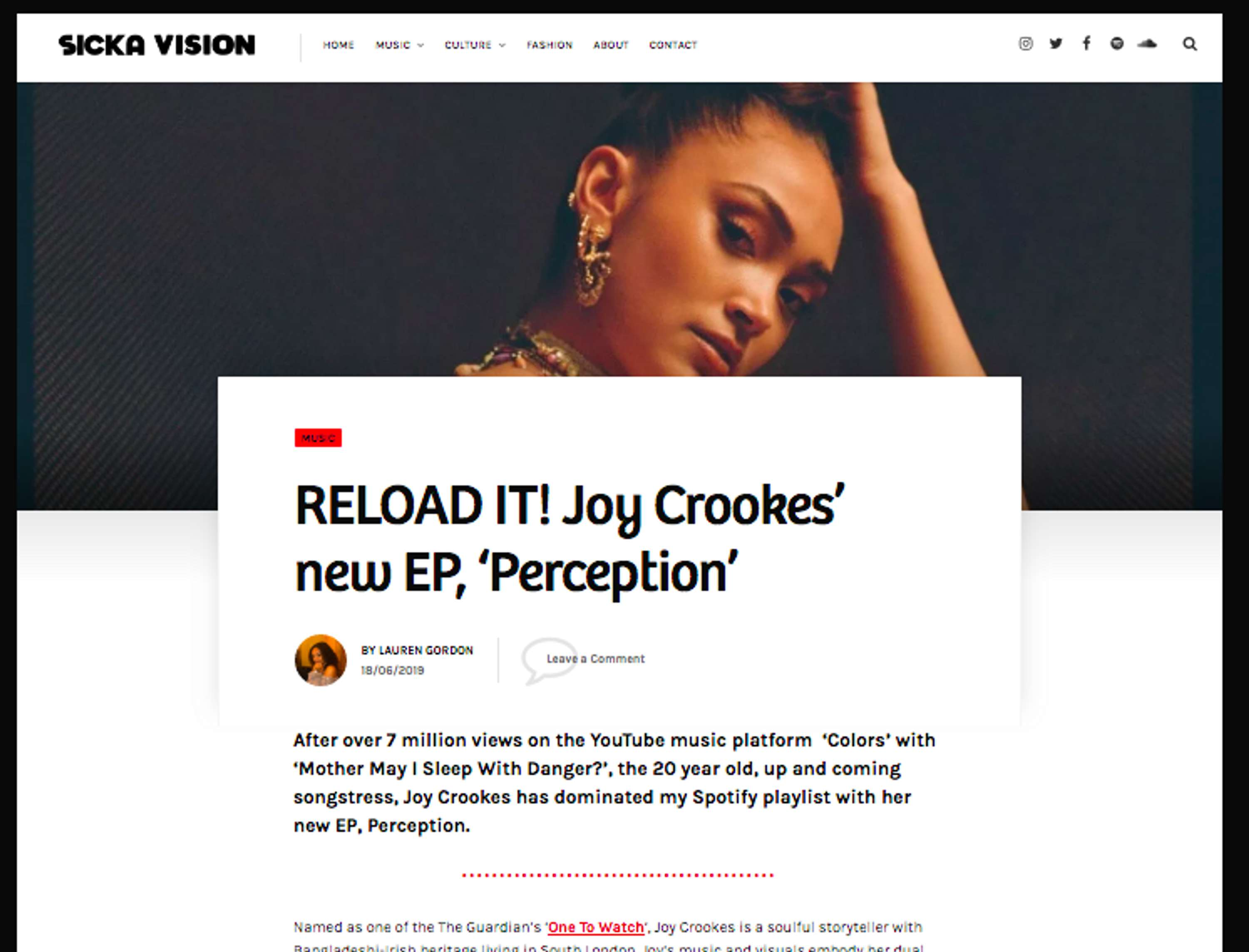 RELOAD IT! Joy Crookes' new EP, 'Perception' | The Dots