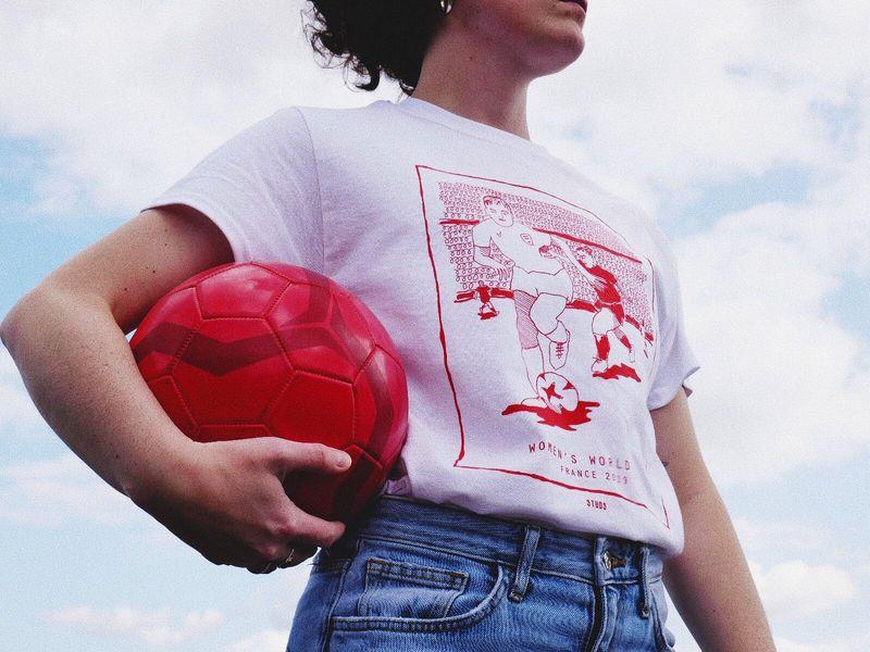 studs women's world cup tee
