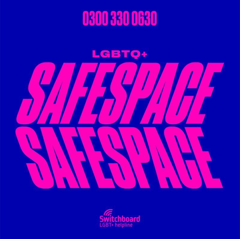 Rankin x Switchboard LGBTQ+ HelpLine - SafeSpace