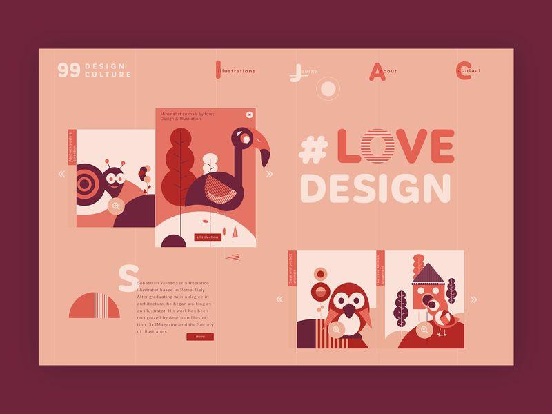 Freelance illustrator ➥ Web Design