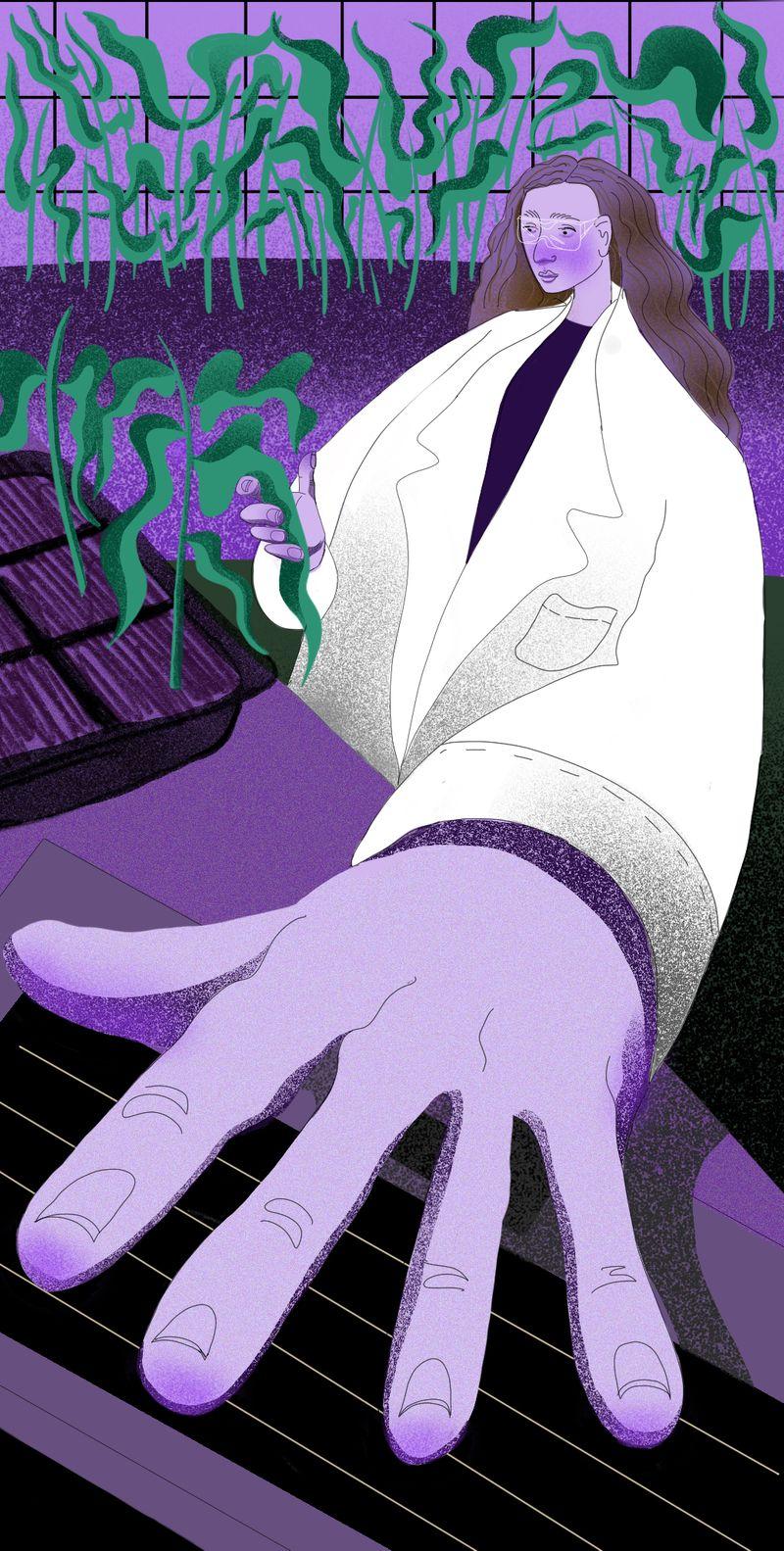 Women of science illustration