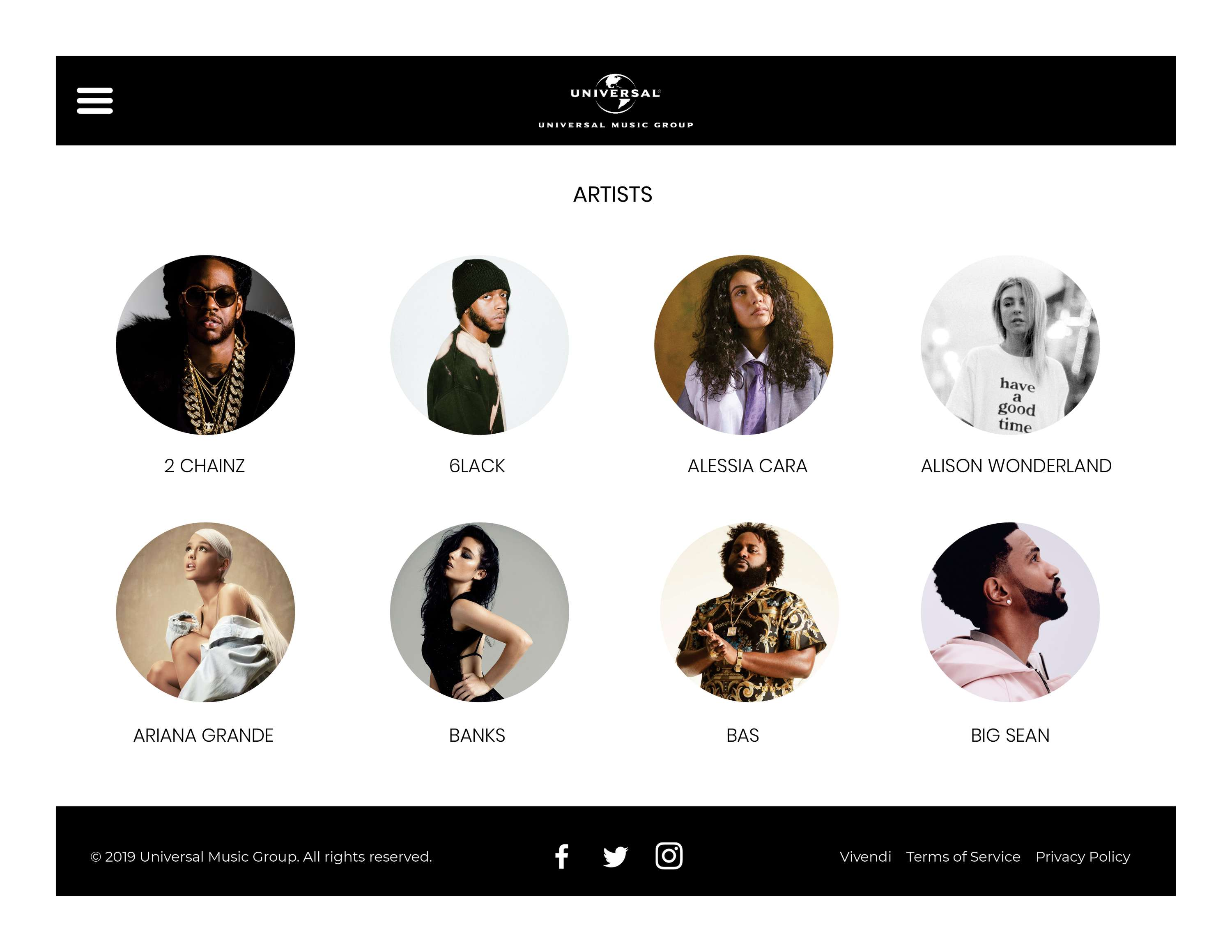 Universal Music UK - Press Site (Concept) | The Dots