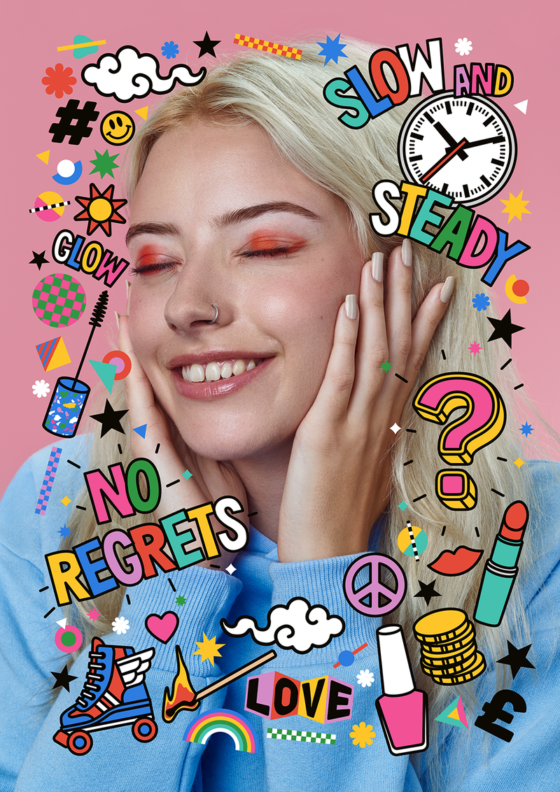 Illustrated Beauty Cosmetics - Editorial Art, Design, Illustration