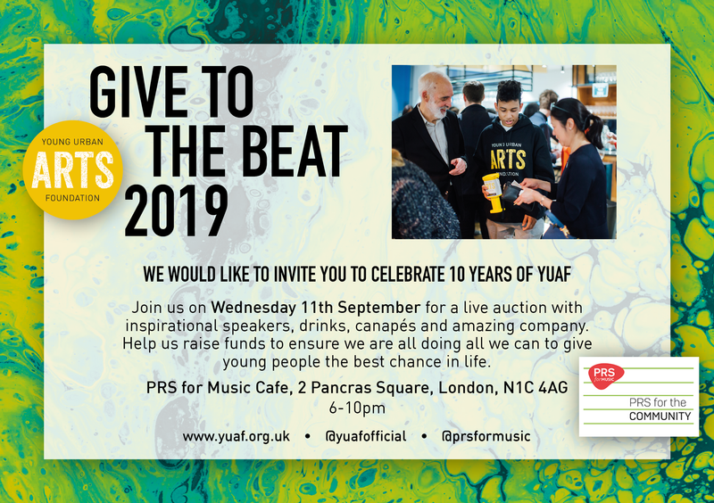 11th September 2019 - Give to the beat - Celebrating 10 Years of keeping young people safe and happy