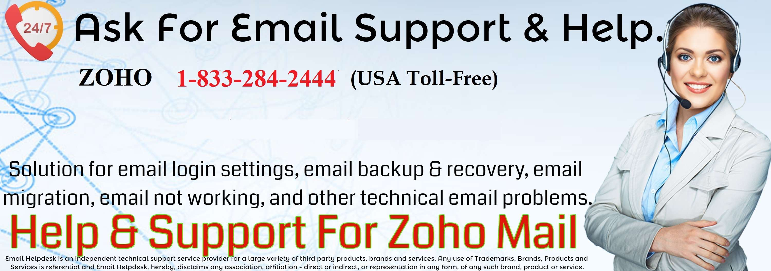 Zoho Mail Support +1-833-284-2444 Service | Phone Number