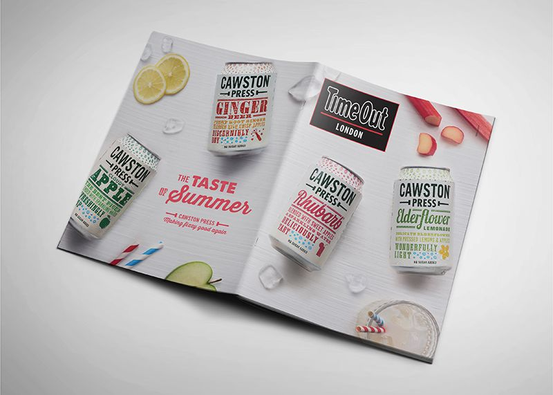 Time Out cover wrap and ads for Cawston Press
