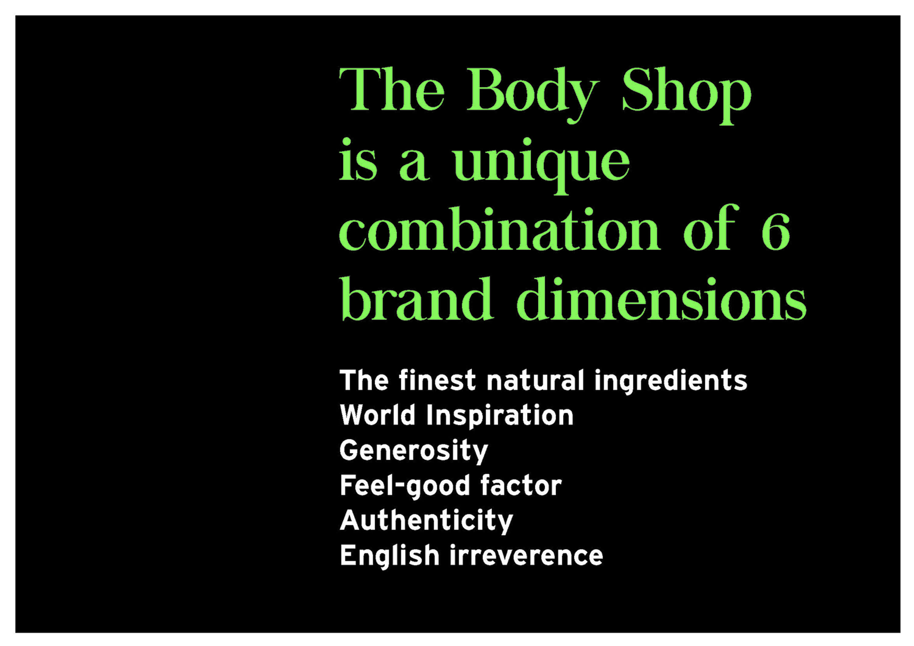 The Body Shop Case Study   The Dots