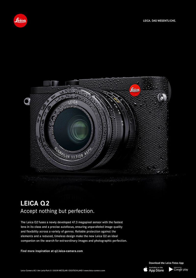 Leica Q2. Accept nothing but perfection.