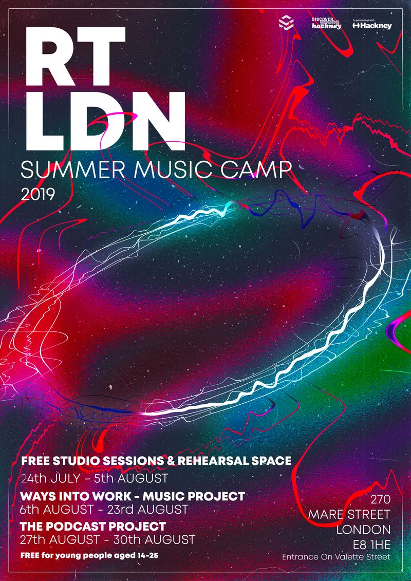 RT LDN - Summer Music Camp 2019 - Poster Design