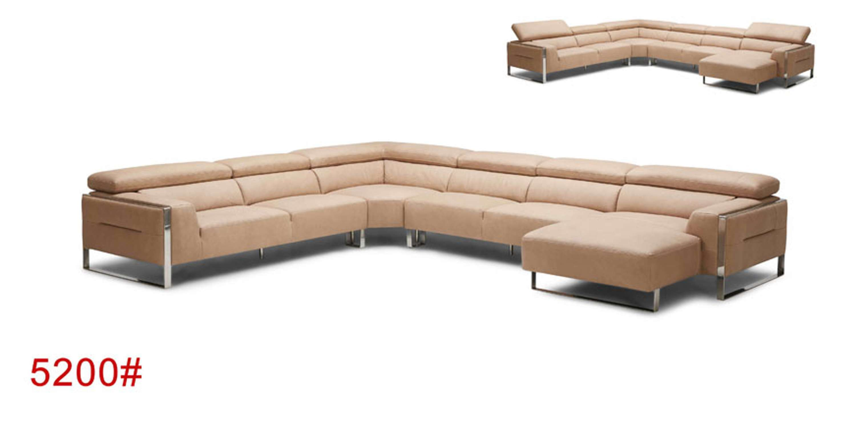 Miraculous European Contemporary Style Leather Sectional Sofa 5200 Uwap Interior Chair Design Uwaporg