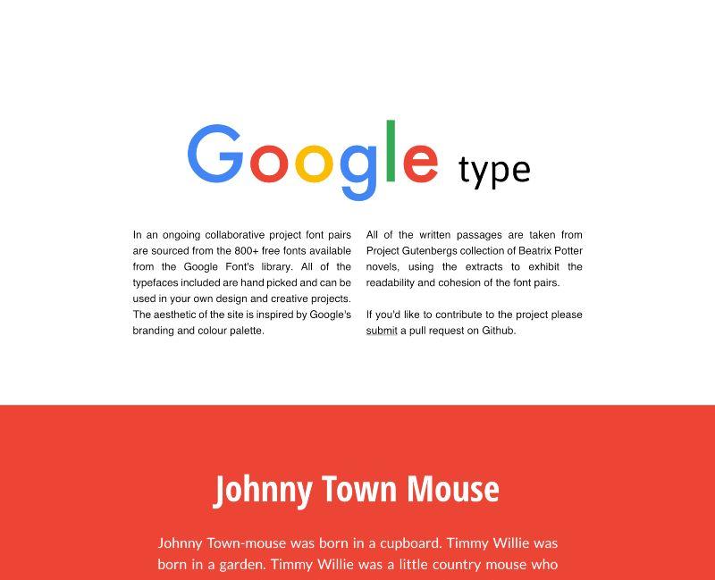 Google Type