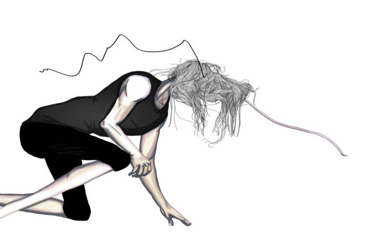 Rick Owens Fashion Illustration