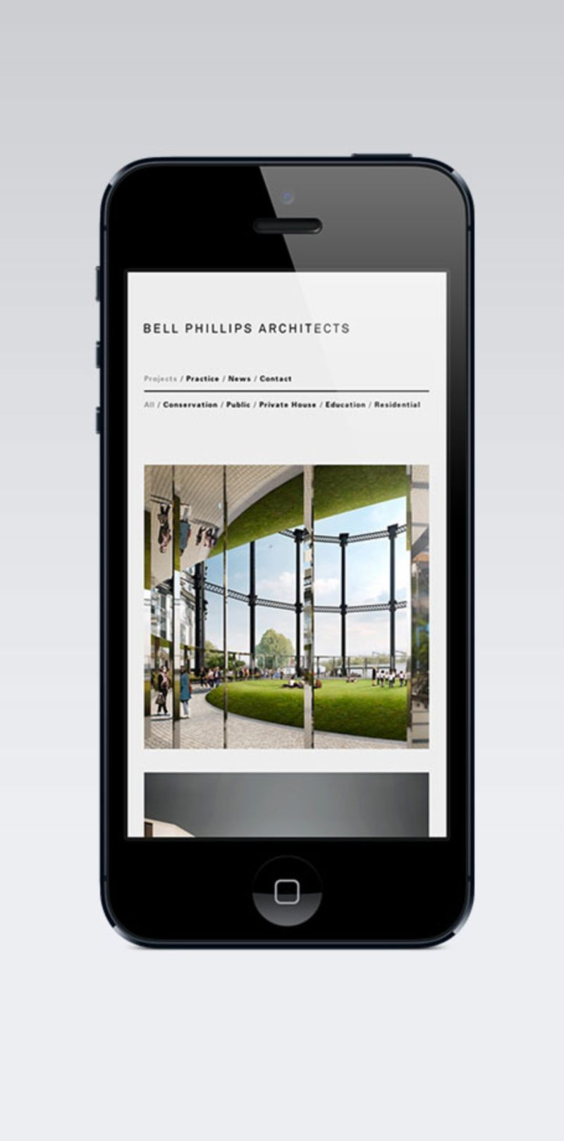 Bell Phillips Architects - Web Design