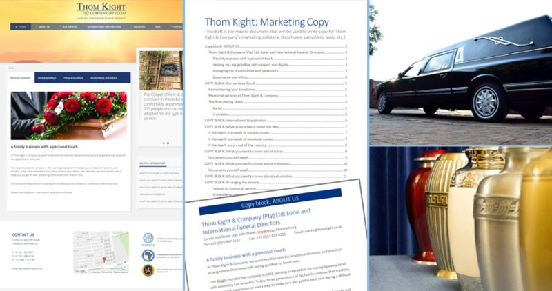 Thom Kight & Company: website content and integration
