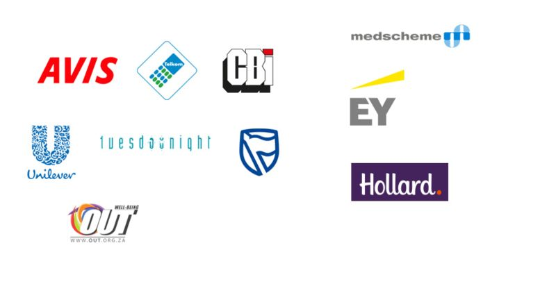 Some of the clients I worked with in South Africa