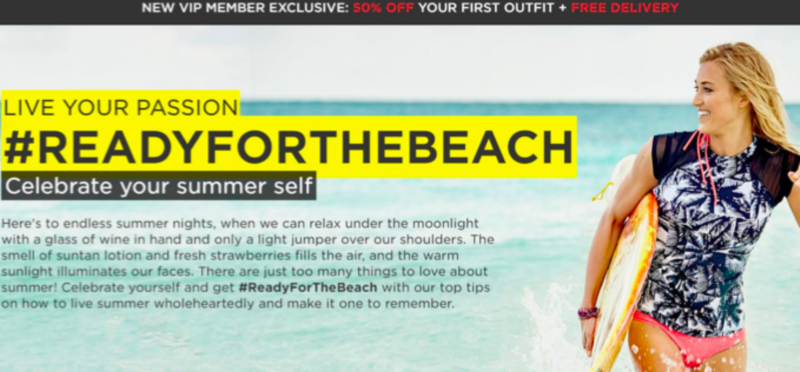 Fabletics content hub and category page design