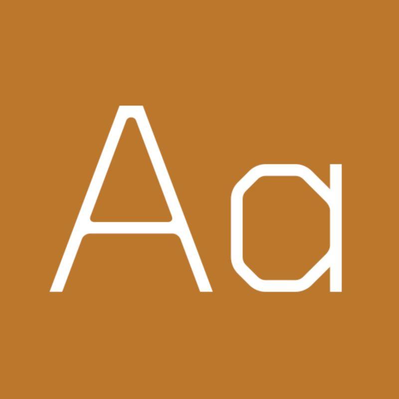 Concrete typeface for Dust Redux