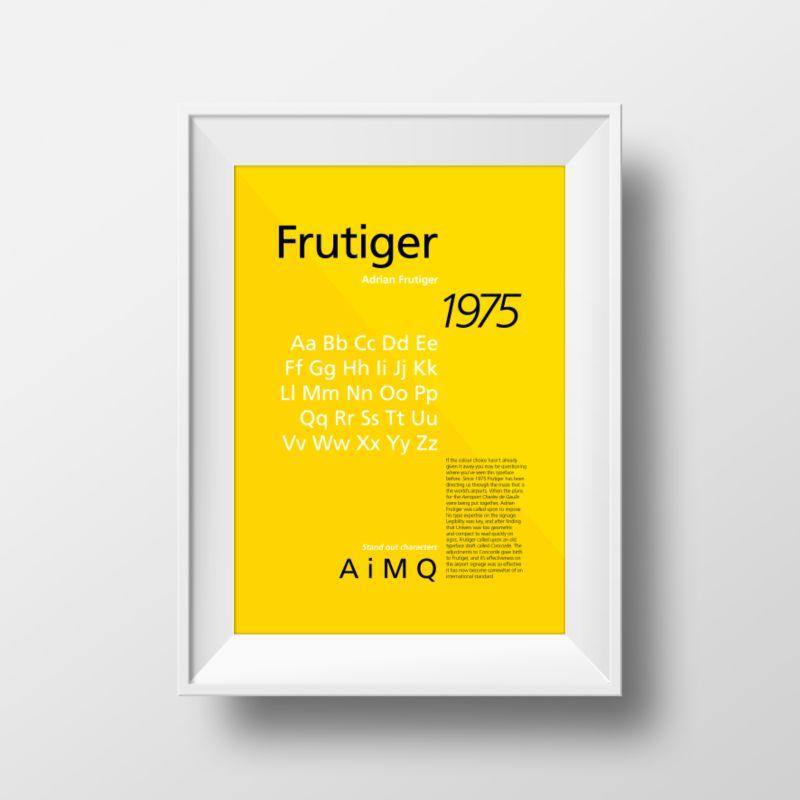 Typeface Specimen Posters