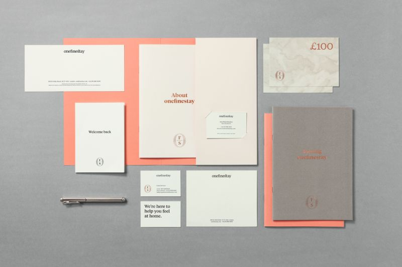 onefinestay brand collateral