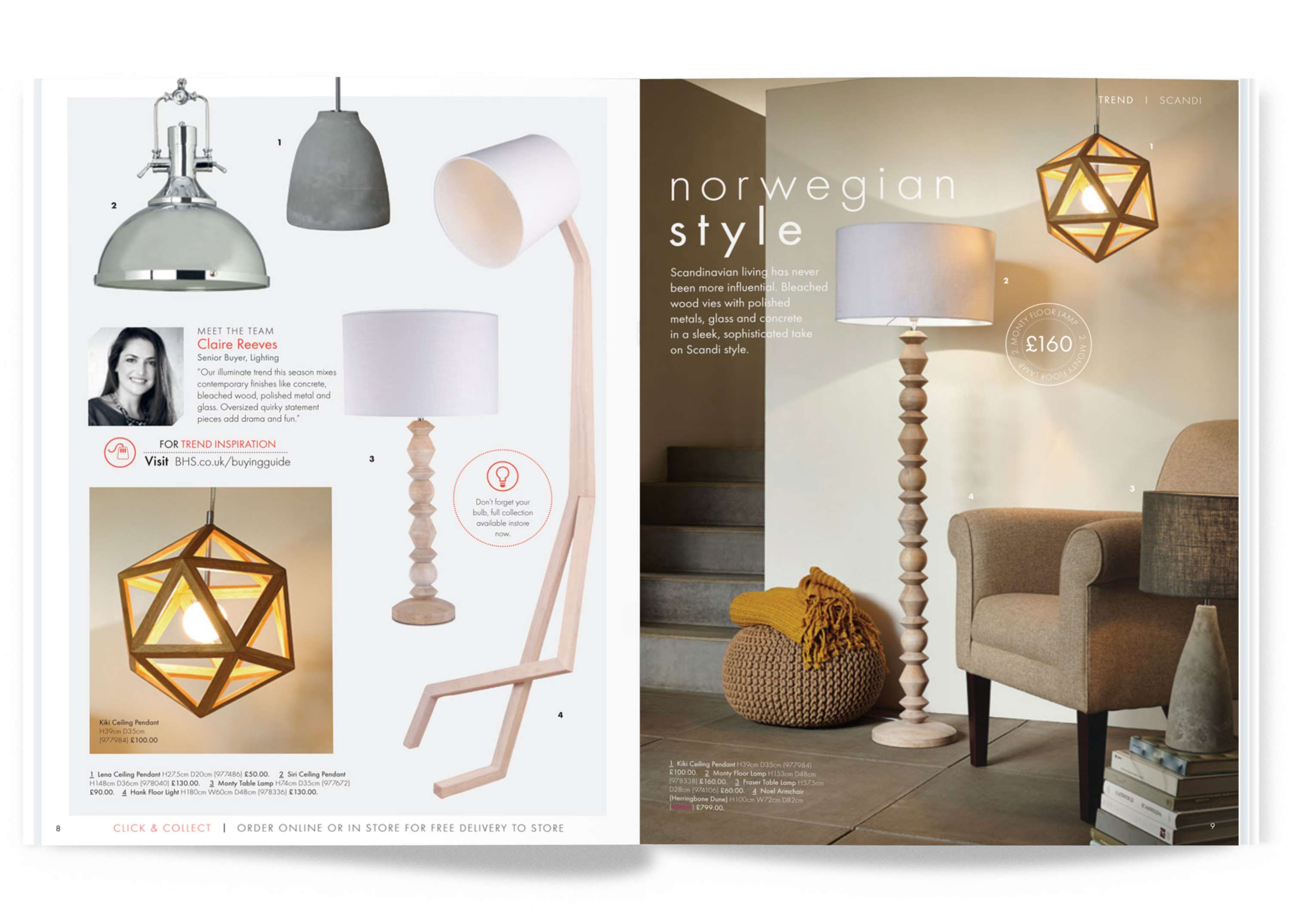 British Home Store Lighting Brochure | The Dots
