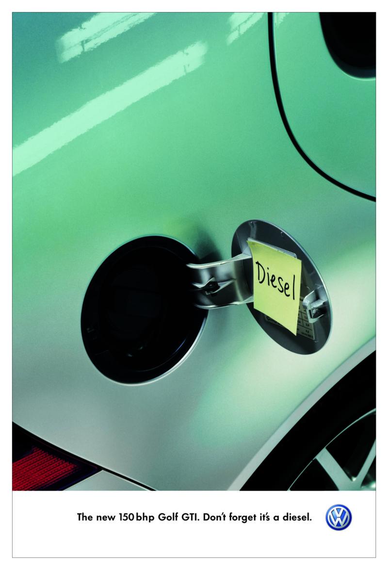 VW 'Don't forget it's a diesel'