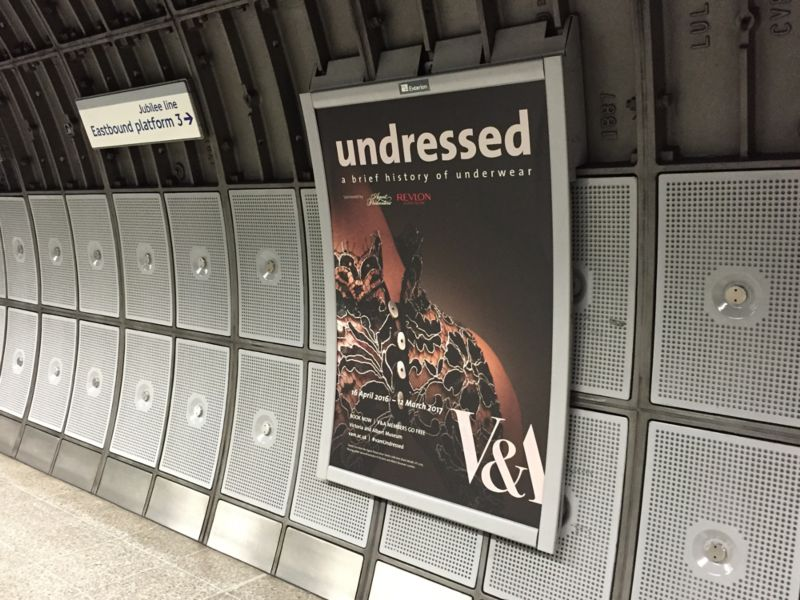 Undressed Exhibition Graphics and Marketing
