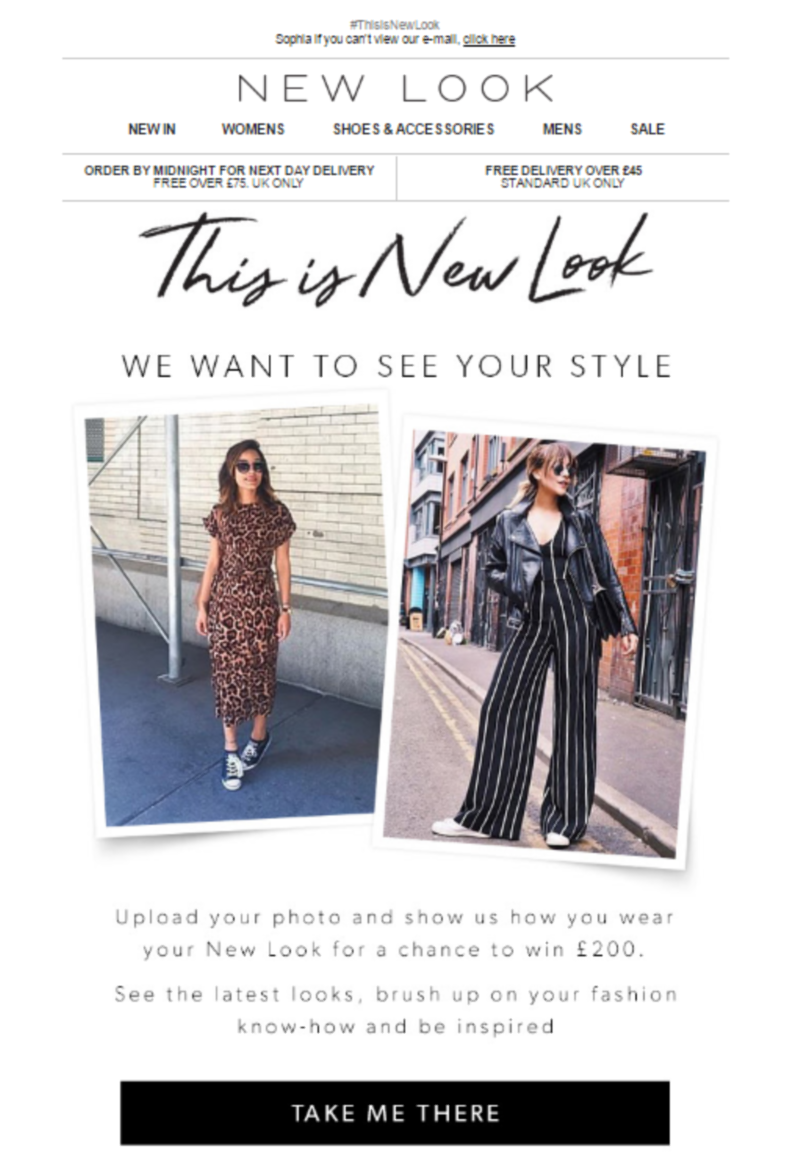 #ThisIsNewLook User Generated Content Marketing