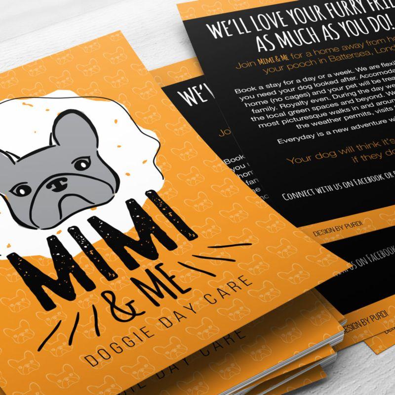 Mimi & Me Doggie Day Care Brand Identity