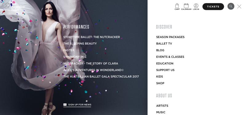 The Australian Ballet Website