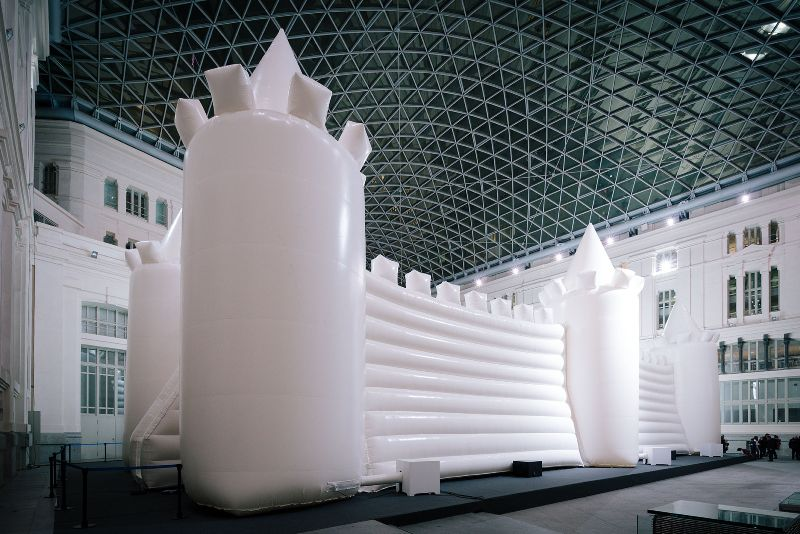 White Bouncy Castle. William Forsythe Company