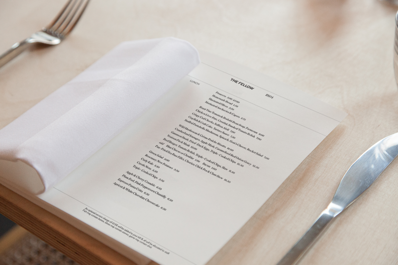 The Fellow Food Menu and Website Design