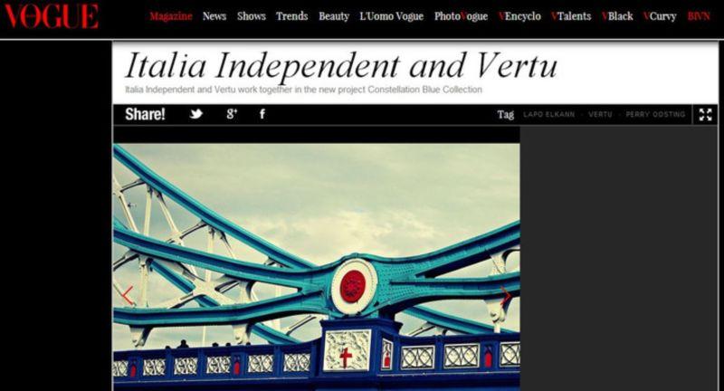 Blue@Vogue Exhibition.