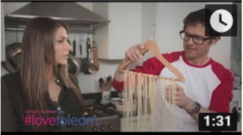 Gemma Merna learns discovers pasta making for Festival of Learning