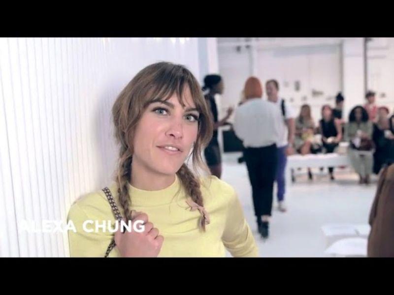 Alexa Chung at London Fashion Week Spring/Summer 2015