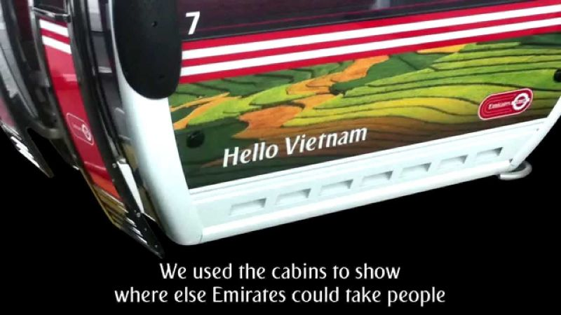 Emirates Air Line - Cable Car Launch