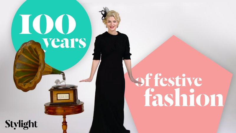 100 Years of festive Fashion in 3 Minutes