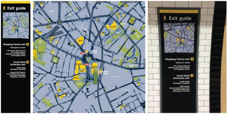 203 x Legible London London Underground Station Exit Guides