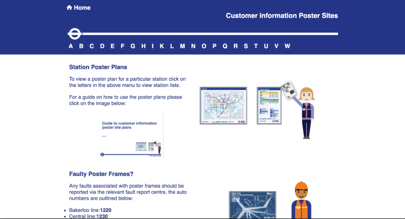 Intranet site for Transport for London